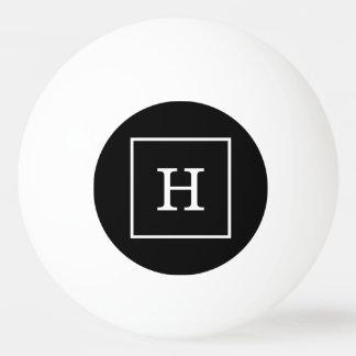 白黒によって組み立てられる最初のモノグラム 卓球ボール