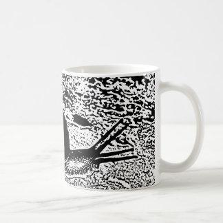 白黒のかたつむり コーヒーマグカップ