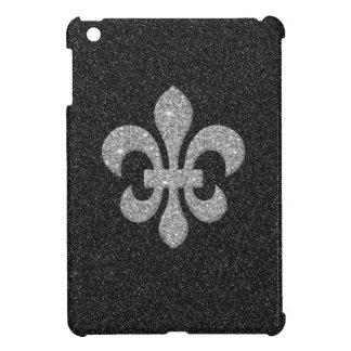 白黒のきらびやかな効果のアヤメ iPad MINI カバー
