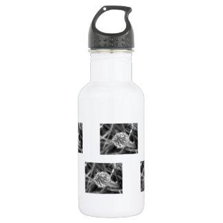 白黒のきらめくなクロッカス ウォーターボトル