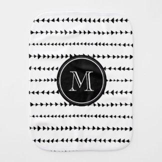 白黒のアステカな矢のモノグラム バープクロス