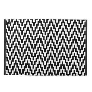 白黒のイカットのシェブロンのジグザグ形のストライプなパターン POWIS iPad AIR 2 ケース