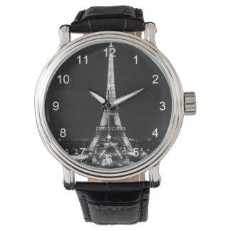 白黒のエッフェル塔 腕時計