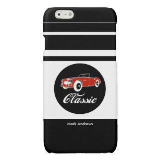 白黒のカスタムなレトロのヴィンテージのコンバーチブル車 光沢iPhone 6ケース