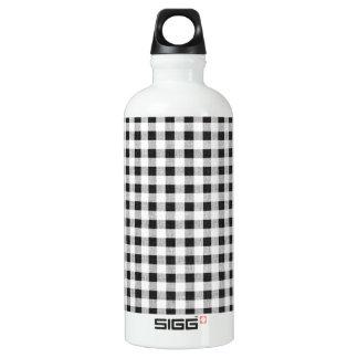白黒のギンガムパターン ウォーターボトル