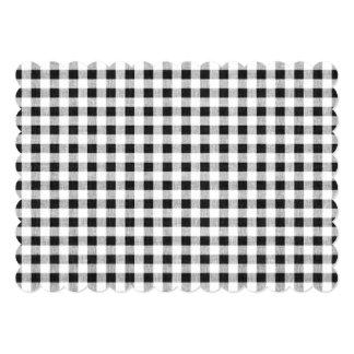 白黒のギンガムパターン カード