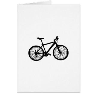 白黒のシンプルな手描きの自転車 カード