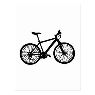 白黒のシンプルな手描きの自転車 ポストカード