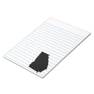 白黒のジョージア ノートパッド