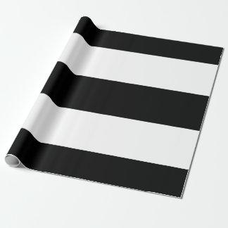 白黒のストライプ ラッピングペーパー