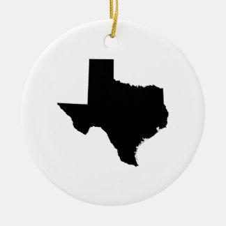 白黒のテキサス州 セラミックオーナメント