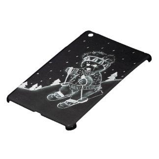 白黒のテディー・ベアのスキー iPad MINI カバー
