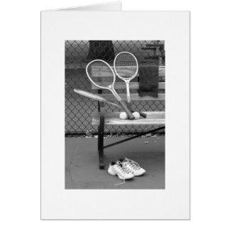白黒のテニス カード