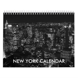 白黒のニューヨークシティ2018のカレンダー カレンダー