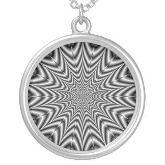 白黒のネックレスによってすごい新星 シルバープレートネックレス