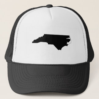 白黒のノースカロライナ キャップ