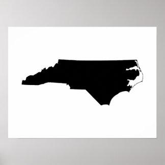 白黒のノースカロライナ ポスター