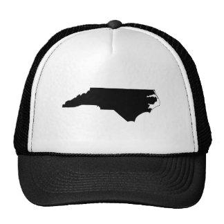 白黒のノースカロライナ メッシュハット