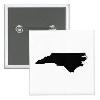 白黒のノースカロライナ 5.1CM 正方形バッジ