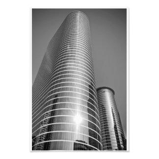 白黒のヒューストン超高層ビル フォトプリント