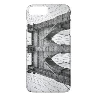 白黒のブルックリン橋の写真 iPhone 8 PLUS/7 PLUSケース