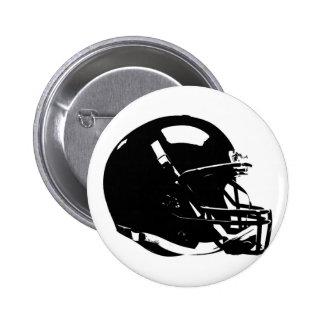 白黒のポップアートのフットボール用ヘルメット 5.7CM 丸型バッジ