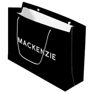 白黒のマッケンジーのエレガントなギフトバッグ ラージペーパーバッグ