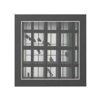 白黒のモダンな建築 ギャラリーラップ