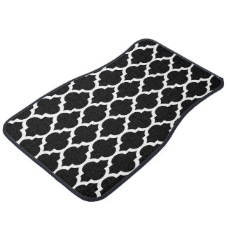 白黒のモロッコのクローバーパターン#4 カーマット