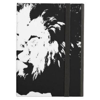 白黒のライオン iPad AIRケース