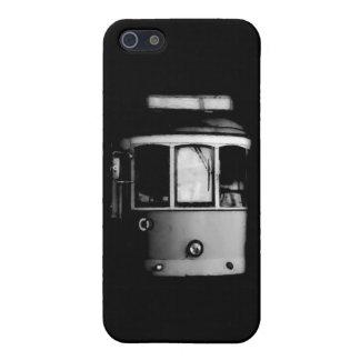 白黒のリスボンの市街電車 iPhone 5 COVER