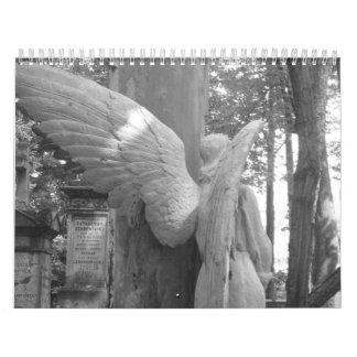 白黒のワルシャワ カレンダー