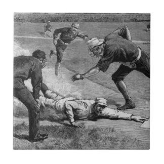 白黒のヴィンテージのスポーツの旧式な野球 タイル