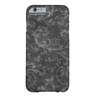 白黒のヴィンテージの花模様の芸術 BARELY THERE iPhone 6 ケース