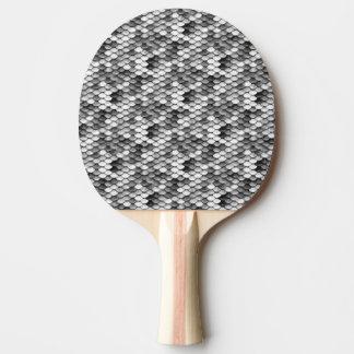 白黒の人魚の皮(パターン) 卓球ラケット
