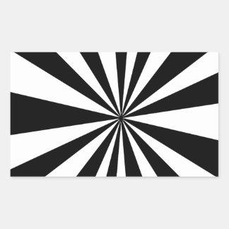 白黒の催眠薬 長方形シール