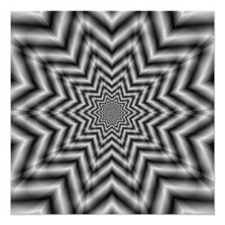 白黒の光学的に挑戦の星 フォトプリント