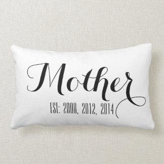 白黒の原稿 の母の日の枕 ランバークッション