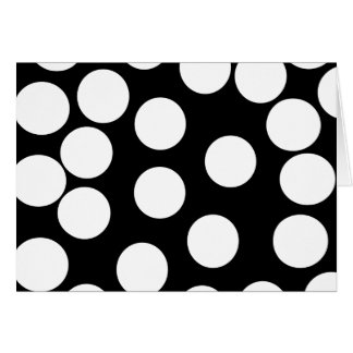 白黒の大きい点。 カード