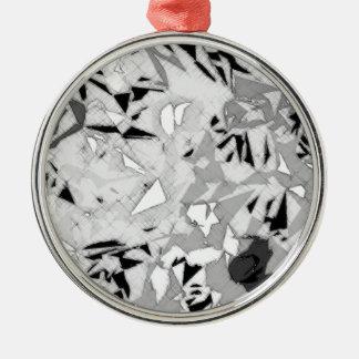 白黒の大理石の抽象芸術 メタルオーナメント
