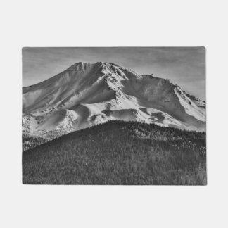 白黒の山SHASSTA ドアマット