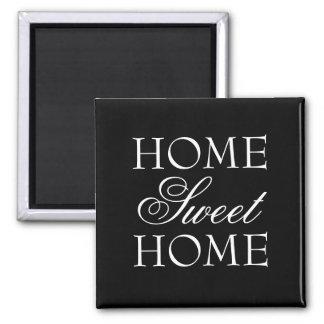 白黒の引用文の家の甘い家の磁石 マグネット