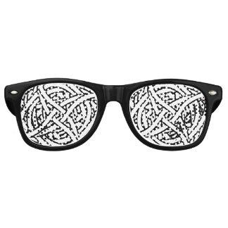 白黒の抽象的なパターン レトロサングラス