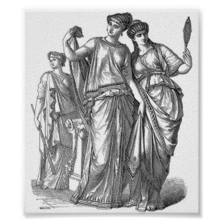 白黒の新古典主義の芸術のプリント ポスター