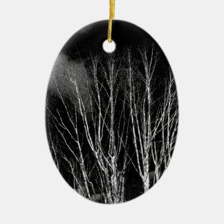 白黒の木 セラミックオーナメント