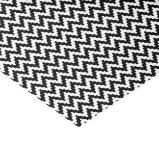 白黒の柔らかいシェブロンパターン 薄葉紙