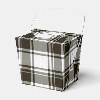 白黒の格子縞はギフト用の箱を取ります フェイバーボックス