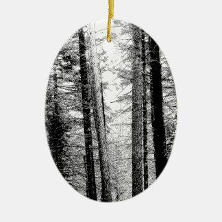 白黒の森林 セラミックオーナメント