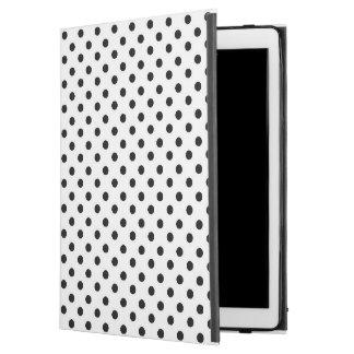 """白黒の水玉模様のiPadのプロ場合 iPad Pro 12.9"""" ケース"""