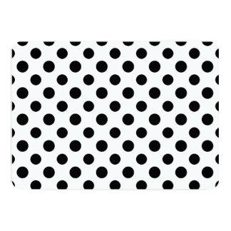 白黒の水玉模様パターン カード